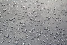 Gotas de agua metálicas Imagenes de archivo