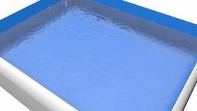 Gotas de agua que caen en envase del agua almacen de video