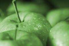 Gotas de Apple y del agua Imágenes de archivo libres de regalías