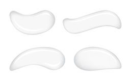 Gotas de creme cosméticas do vetor da pele branca ilustração do vetor