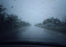 Gotas de la lluvia Foto de archivo libre de regalías