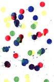 Gotas de la pintura Imagen de archivo