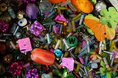 Gotas de la semilla, Paillettes y otros adornos decorativos Foto de archivo libre de regalías