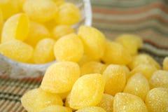 Gotas de limão Fotografia de Stock Royalty Free