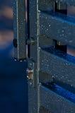 Gotas de lluvia en la puerta Imagen de archivo libre de regalías