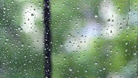 Gotas de lluvia en ventana almacen de video