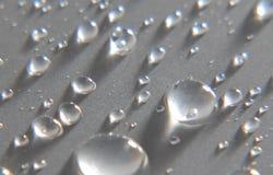 Gotas de prata Fotografia de Stock