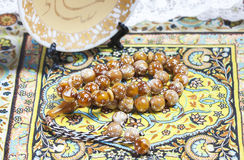 Gotas de rezo musulmanes Imagen de archivo libre de regalías