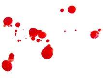 Gotas de sangre Foto de archivo