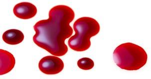 Gotas de sangre Fotos de archivo