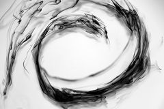 Gotas de tinta preta Imagens de Stock