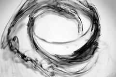 Gotas de tinta preta Imagens de Stock Royalty Free