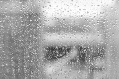 Gotas de uma chuva Imagens de Stock Royalty Free