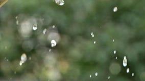 Gotas del aerosol de agua metrajes