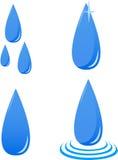 Gotas del agua del vector Imagen de archivo