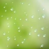 Gotas del agua en fondo verde EPS10 más libre illustration