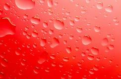 Gotas del agua roja Foto de archivo