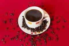 Gotas del café Imágenes de archivo libres de regalías