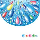 Gotas del color. Imágenes de archivo libres de regalías