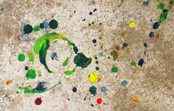 Gotas del color Imagen de archivo libre de regalías