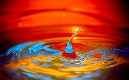 Gotas del color Fotos de archivo libres de regalías