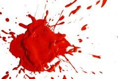 Gotas del color rojo Fotografía de archivo