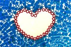 Gotas del corazón Foto de archivo libre de regalías