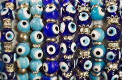 Gotas del ojo de Nazar del turco Imagen de archivo
