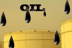 Gotas del petróleo en oiltank Foto de archivo libre de regalías