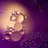Gotas del petróleo Fotos de archivo