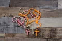 Gotas del rosario del color Fotografía de archivo