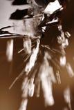 Gotas descendentes del agua de aleros imagen de archivo libre de regalías