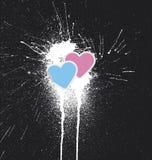 Gotas do coração Imagens de Stock
