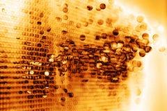 Gotas do fundo derretido do ouro ilustração stock