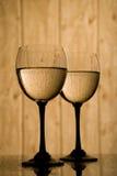 Gotas do vidro e da água Foto de Stock Royalty Free