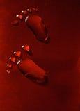 Gotas dos pés Fotografia de Stock