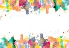 Gotas - el watercolour pinta salpicaduras en el papel libre illustration