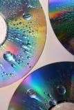 Gotas en el CD Fotos de archivo libres de regalías