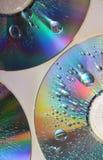 Gotas en el CD Fotografía de archivo libre de regalías