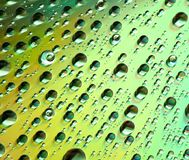 Gotas en el Cd Imagen de archivo