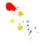 Gotas en forma de cometa del color Fotografía de archivo libre de regalías