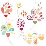 Gotas florais Fotografia de Stock Royalty Free