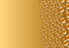 Gotas hermosas del agua de la decoración del vector Foto de archivo libre de regalías