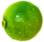 Gotas isoladas do whit do limão fotografia de stock royalty free