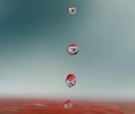 Gotas múltiplas da água Foto de Stock Royalty Free