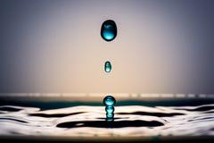 Gotas muito bonitas da água Sente calmo e fresco Imagem de Stock Royalty Free