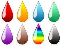 Gotas Multicolor Fotografia de Stock