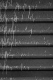 Gotas na cerca Imagens de Stock