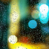 Gotas na janela Foto de Stock