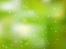 Gotas naturales del agua sobre el vidrio EPS10 más Fotografía de archivo libre de regalías
